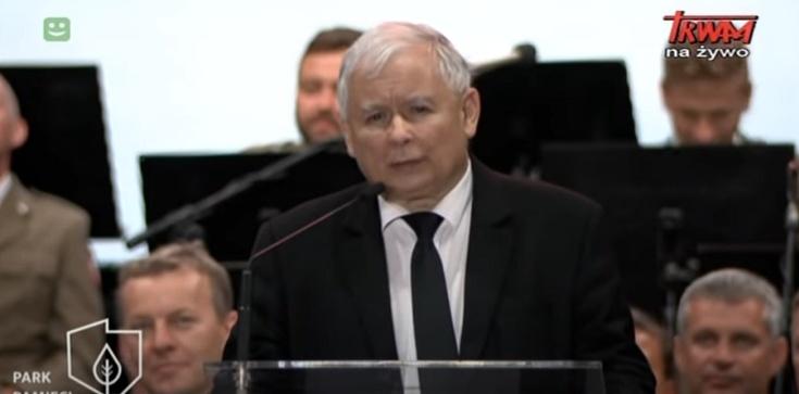 Prezes PiS na otwarciu Parku Pamięci Narodowej: Trwa akcja dyfamacyjna wobec naszego narodu - zdjęcie