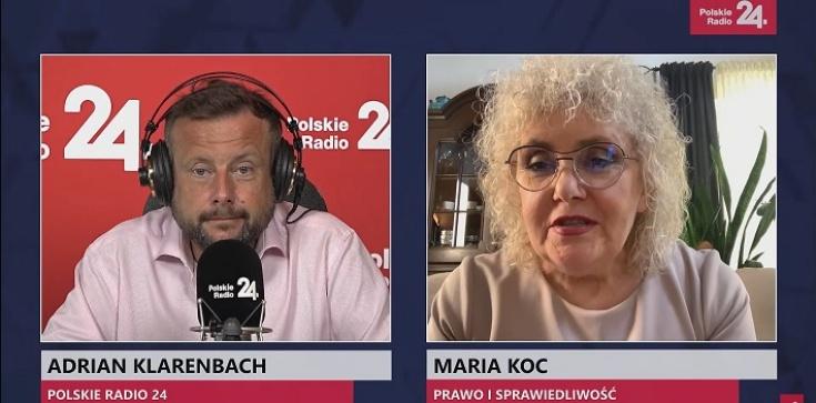 Maria Koc: Wg opozycji senackiej RPO ma się zajmować głównie polityką i walczyć z rządem - zdjęcie