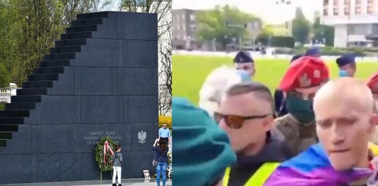 [Wideo] Pilne. Kolejna skandaliczna prowokacja pod pomnikiem Ofiar Tragedii Smoleńskiej! - zdjęcie