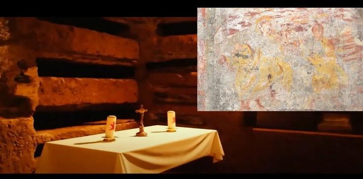 Najstarszy obraz Wniebowstąpienia odkryto właśnie w rzymskich katakumbach  - zdjęcie