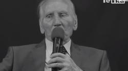 Nie żyje Kazimierz Piechowski- świadek historii, żołnierz AK, uciekinier z Auschwitz - miniaturka