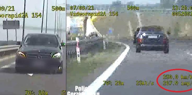 Jechał 250 km/h. Zatrzymany pirat drogowy był zszokowany mocą mocą radiowozu - zdjęcie