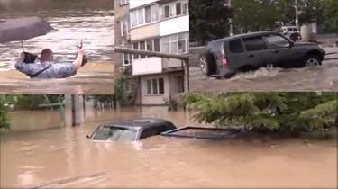 [Wideo] Tragiczna sytuacja powodziowa na Krymie. Ewakuowano ponad 1300 mieszkańców i ponad 200 dzieci - miniaturka
