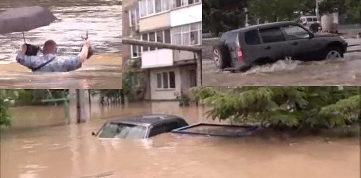 [Wideo] Tragiczna sytuacja powodziowa na Krymie. Ewakuowano ponad 1300 mieszkańców i ponad 200 dzieci - zdjęcie