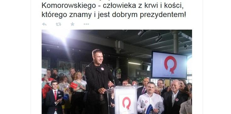 """Tomasz Karolak: """"Komorowski człowiek z kości"""" - nowe hasło prezydenta - zdjęcie"""