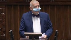 """Korwin-Mikke sprzeciwia się maseczkom Sejmie, bo """"spadają zdolności intelektualne"""" posłów - miniaturka"""