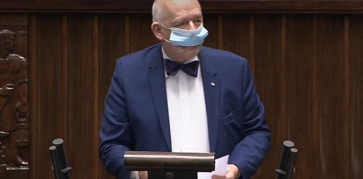 """Korwin-Mikke sprzeciwia się maseczkom Sejmie, bo """"spadają zdolności intelektualne"""" posłów - zdjęcie"""