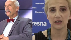 KOMEDIA! Scheuring-Wielgus i Korwin-Mikke pokłócili się w Sejmie. 'Proszę nie patrzeć mi na biust!' - miniaturka