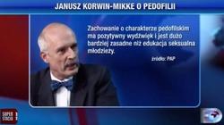 """Kolejny obrzydliwy wpis Korwina o pedofilii. Tym razem chce poświęcać dzieci pedofilom, aby """"ocalić"""" inne - miniaturka"""