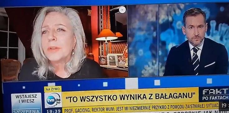 MEGA mocne. Janda w TVN24 wsypała rektora WUM: Ja konkretnie podawałam prof. Gaciongowi listę kolegów [Wideo] - zdjęcie