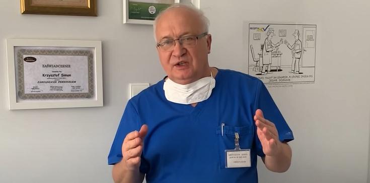 Prof. Krzysztof Simon reklamował maseczki. Sprawą zajmie się rzecznik odpowiedzialności zawodowej - zdjęcie
