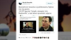 Jak manipulować, to z przytupem! Absurdalny fake news o księdzu-szwagrze ministra Radziwiłła - miniaturka