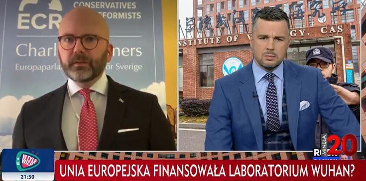 """[Wideo] SZOK! Szwedzki europoseł: """"UE finansowała produkcję wirusa w laboratorium w Wuhan""""  - zdjęcie"""