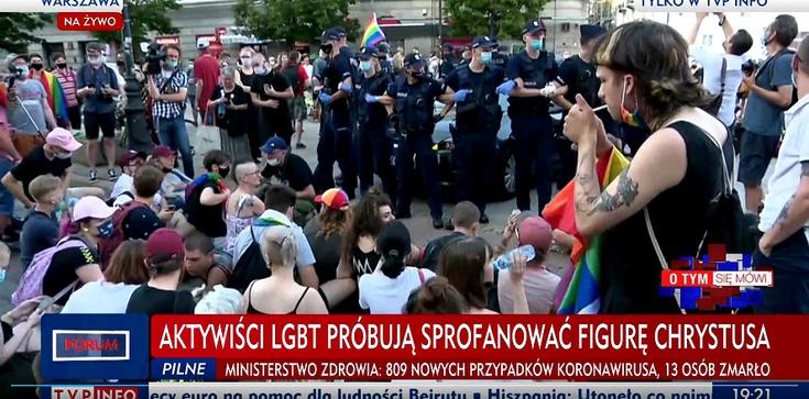 Zatrzymani w piątek aktywiści LGBT z postawionymi zarzutami opuścili komendy  - zdjęcie