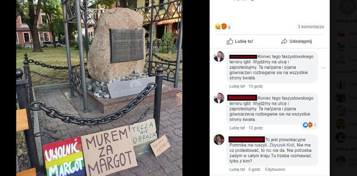 Kolejny eksces LGBT. Tym razem aktywiści nie oszczędzili pomnika pomordowanych Żydów - zdjęcie