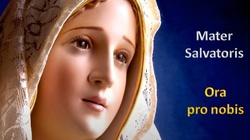 Christe audi nos... Chryste wysłuchaj nas... Mater Salvatoris ... Ora pro nobis ... Matko Zbawiciela ... Módl się za nami ... - miniaturka