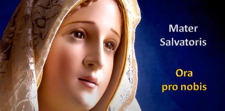 Christe audi nos... Chryste wysłuchaj nas... Mater Salvatoris ... Ora pro nobis ... Matko Zbawiciela ... Módl się za nami ... - zdjęcie