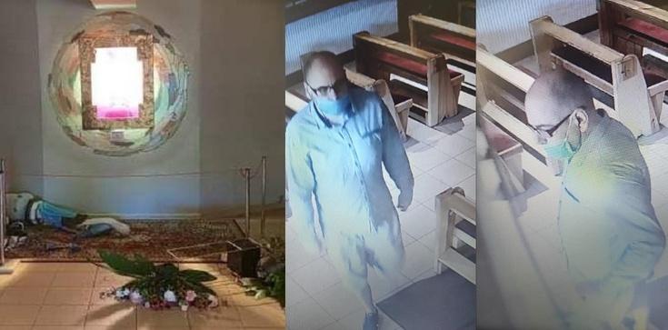 Policja publikuje zdjęcia profanatora kaplicy kościoła św. Maksymiliana M. Kolbego w Koninie - zdjęcie