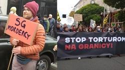 """Warszawa. Marsz """"Stop torturom na granicy"""" i absolutnie skandaliczne hasła: """"SS-mani z SG"""", """"SG Mordercy"""" - miniaturka"""