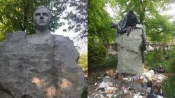 Nowy Jork. Niesamowity akt wandalizmu. Zdewastowano pomnik ks. Jerzego Popiełuszki - miniaturka