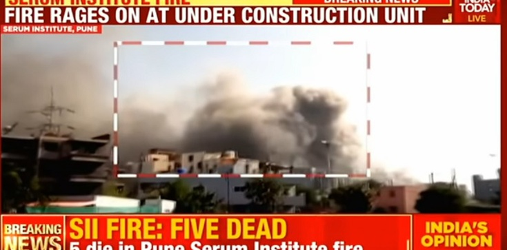 Indie. Wybuch w największej na świecie fabryce szczepionek przeciwko Covid-19 - zdjęcie