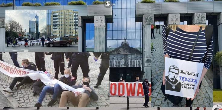 Znamienne! Obywatele RP i Otwarty Dialog bronią Tuleyi i blokują wjazd do SN - zdjęcie