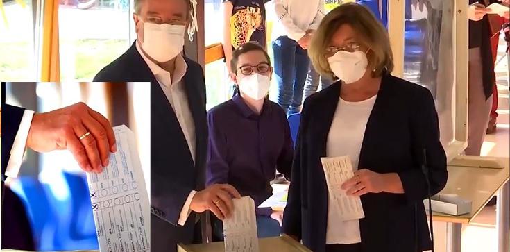 [Wideo] Niemcy. Ogromna wpadka lidera CDU podczas głosowania - zdjęcie