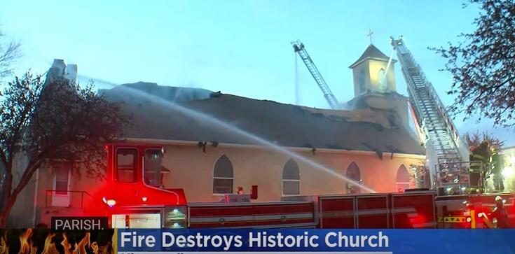 [Wideo] Minneapolis. Czy aktywiści BLM podpalili zabytkowy katolicki kościół? - zdjęcie