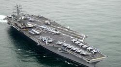 Lotniskowiec USA wystrzelił w kierunku irańskich okrętów! - miniaturka