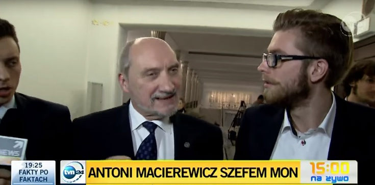 Macierewicz kpi z TVN - zdjęcie