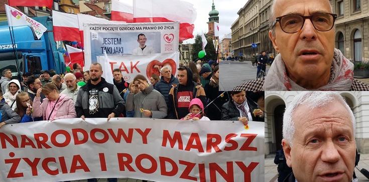 Tylko u Nas! [Wideo, Fotorelacja] Marsz dla Życia i Rodziny - wypowiedzi Jana Pospieszalskiego i Marka Jurka oraz homo komando na trasie marszu - zdjęcie