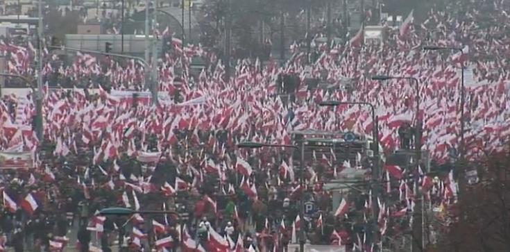 Ruszył Biało-Czerwony marsz! Setki tysięcy patriotów na ulicach Warszawy - zdjęcie
