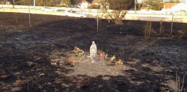 Niezwykły cud w Hiszpanii. Pożar spalił wszystko, oprócz figurki Matki Bożej z Lourdes - zdjęcie