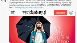 Centrum Monitoringu Prasy SDP o okładce ,,WO'': Prowokacja naruszająca prawo - miniaturka