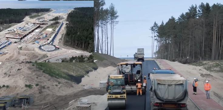[Wideo] Pierwszy asfalt na Mierzei Wiślanej - zdjęcie