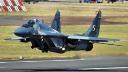 Katastrofa MIG-29 pod Mińskiem Mazowieckim. Pilot katapultował się - miniaturka