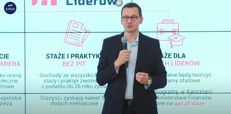 Brawo Polska! Premier Morawiecki: Zerowy PIT dla stażystów rządówki - zdjęcie