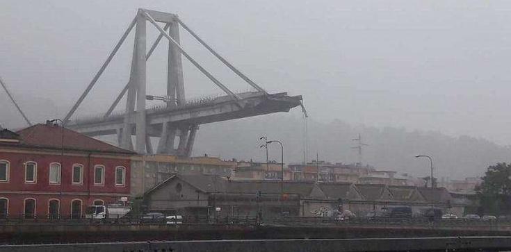 Zawalił się wiadukt w Genui. Dziesiątki osób przygniecionych - zdjęcie