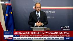 (Wideo) Wiceszef MSZ po spotkaniu z ambasadorem Białorusi w Polsce: Poinformowałem pana ambasadora, że nie ma zgody w Polsce na tego typu narrację - miniaturka