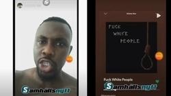 ,,Zabierzcie im ich suki i pieniądze!'' Czarnoskóry raper nawołuje do zabijania białych ludzi - miniaturka