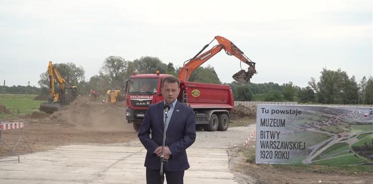 Minister Błaszczak: Rusza budowa Muzeum Bitwy Warszawskiej - zdjęcie