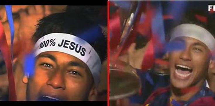 """Neymar ocenzurowany. Napis """"100% Jesus"""" zniknął - zdjęcie"""