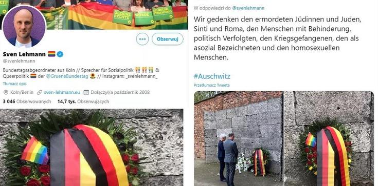 Auschwitz. Niemiecki deputowany upamiętnia ofiary LGBT. O Polakach ... zapomniał - zdjęcie