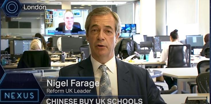 Nigel Farage: Brytyjskie szkoły są sprzedawane Chinom - zdjęcie