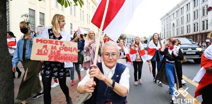 (Wideo) Białoruś. OMON nie był w stanie zablokować marszu kobiet - zdjęcie