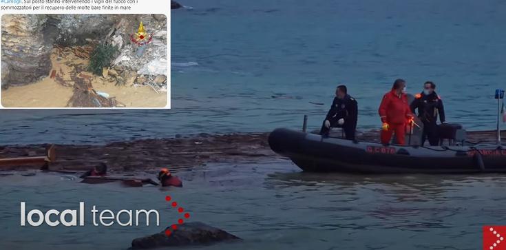 Włochy. Trumny z cmentarza trafiły do morza [Wideo] - zdjęcie