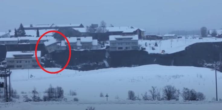 Norwegia. Zapadła się część miasta. Służby poszukują 21 osób [Wideo] - zdjęcie