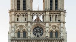 To zdjęcie jest symboliczne! Promieniujący krzyż w zgliszczach Notre Dame - miniaturka