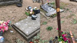 Dewastacja katolickiego cmentarza w Piłce. Zniszczono krzyże - miniaturka