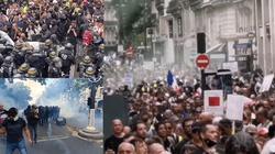 [Wideo] Paryż. Liczne starcia z policją podczas protestów przeciwko segregacji sanitarnej - miniaturka